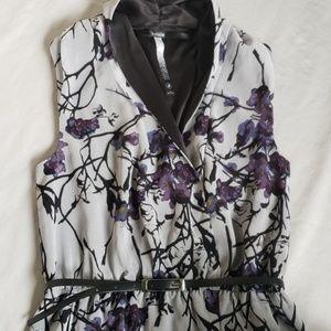 Kensie Floral Wrap Style Dress